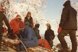 Dugnad i skogen på Eikås 1984 foto 2
