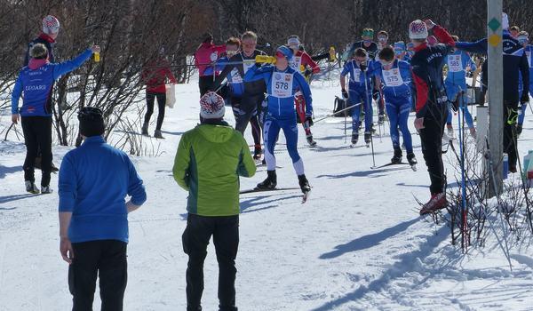 Svenska skidförbundet bjuder in till en virtuell säsongsfinal i samarbete med RaceOne. Bilden från Fjälltopploppet 2019. FOTO: Johan Trygg/Längd.se.