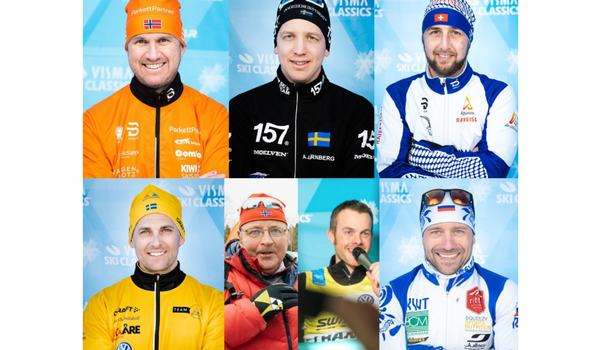 Här är de nominerade till utmärkelsen Pro Team Director of the Year inom Visma Ski Classics. FOTO: Visma Ski Classics.