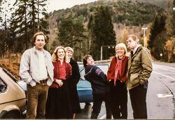 Visegruppa på veg til Kaupanger 1984-2