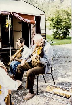 Jan Lien og Lars Skjervheim på Mo 1984-2