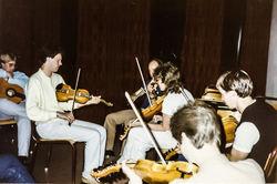 Knut Sandal og elevar på Mo 1984-2
