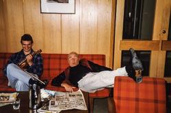 Ivar Hauge og Ludvig Eikås på Mo 1984-2