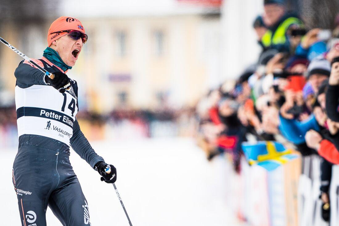 Petter Eliassen vann Vasaloppet och toppar Visma Ski Classics ranking före Andreas Nygaard och Britta Johansson Norgren. FOTO: Visma Ski Classics/Magnus Östh.