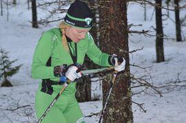 Linda Lindkvist, IK Jarl Rättvik, är en av åkarna i landslagstruppen i skidorientering inför nästa vinter. FOTO: Johan Trygg/Längd.se.