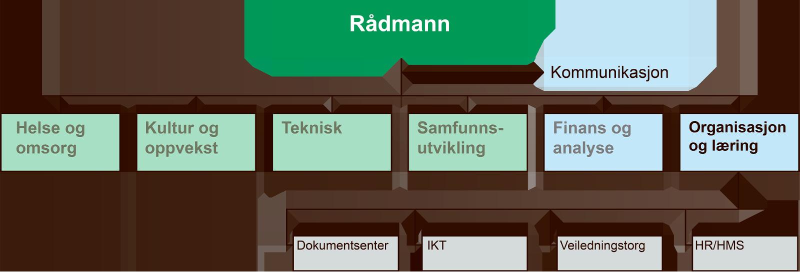 Organisasjonskart for organisasjon og læring