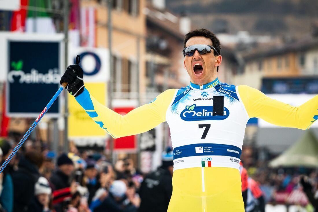 Tore Björseth Berdal kan se tillbaka på segrarna i Vasaloppet 2019 och Marcialonga 2020 (bilden) när han nu lägger skidorna på hyllan 32 år gammal. FOTO: Visma Ski Classics/Magnus Östh.