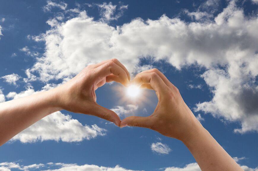 hjerte til sola