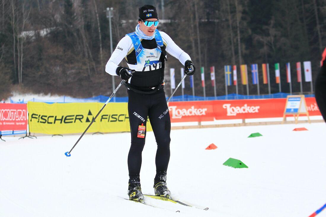 Robin Grenholm från Brunflo har tagit rejäla kliv i skidspåret sedan han blev en del av Team XC Gold förra året. Här är Robin under Marcialonga.