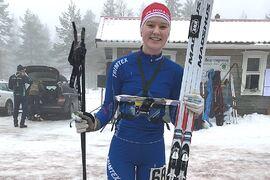 Elsa Hermansson, IFK Mora OK, är en av åkarna i juniorlandslagstruppen i skidorientering inför nästa vinter.