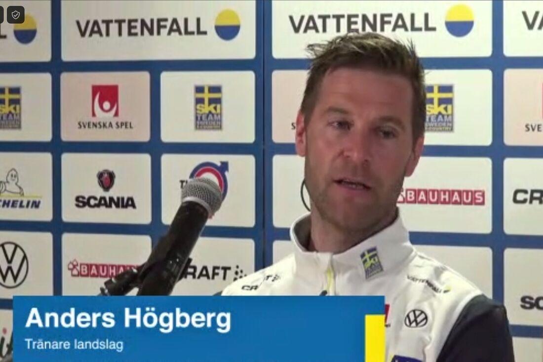 Anders Högberg, med bakgrund som tränare i Norge och som tränare för Kinas landslag de två senaste åren, är ny tränare i längdlandslaget. FOTO: Från Svenska skidförbundets digitala presskonferens.