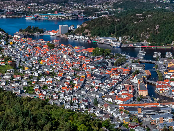 Drone over Egersund sentrum
