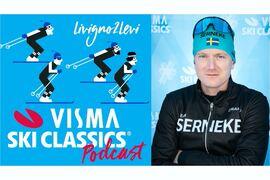 Lyssna på Visma Ski Classics podcast Livigno2Levi där Martin Holmstrand intervjuas och bland annat berättar varför Team Serneke läggs ner. FOTO: Visma Ski Classics/Magnus Östh.