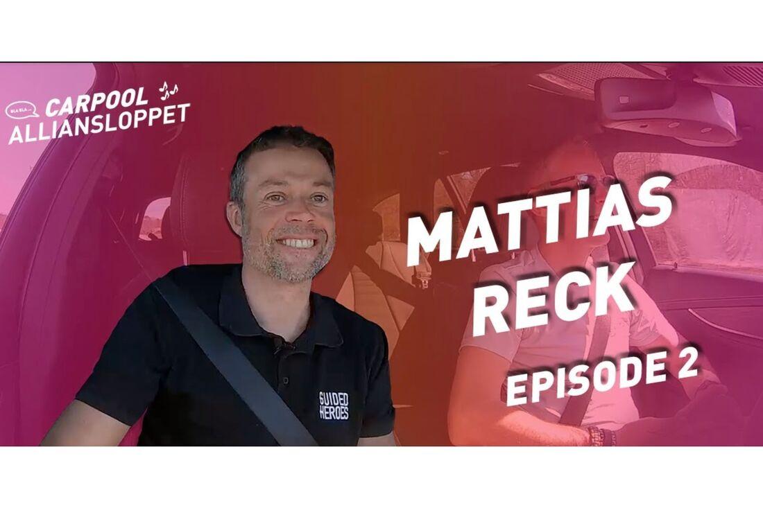 Mattias Reck är cykeltränaren som börjat träna skidåkare. Nu gästar han andra avsnittet av Carpool Alliansloppet.