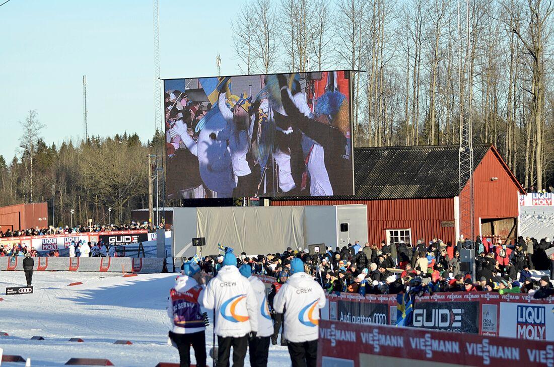 16-17 januari kommer världscupcirkusen tillbaka till Ulricehamn för tredje gången. Bilden från 2017 när man arrangerade för första gången. FOTO: Johan Trygg/Längd.se.