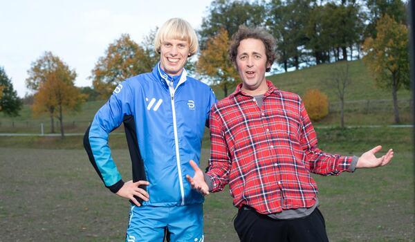 Erik Wickström och Niklas Bergh bjuder in till SkiErg-loppet. Vad får du för tid på 5000 meter SkiErg?