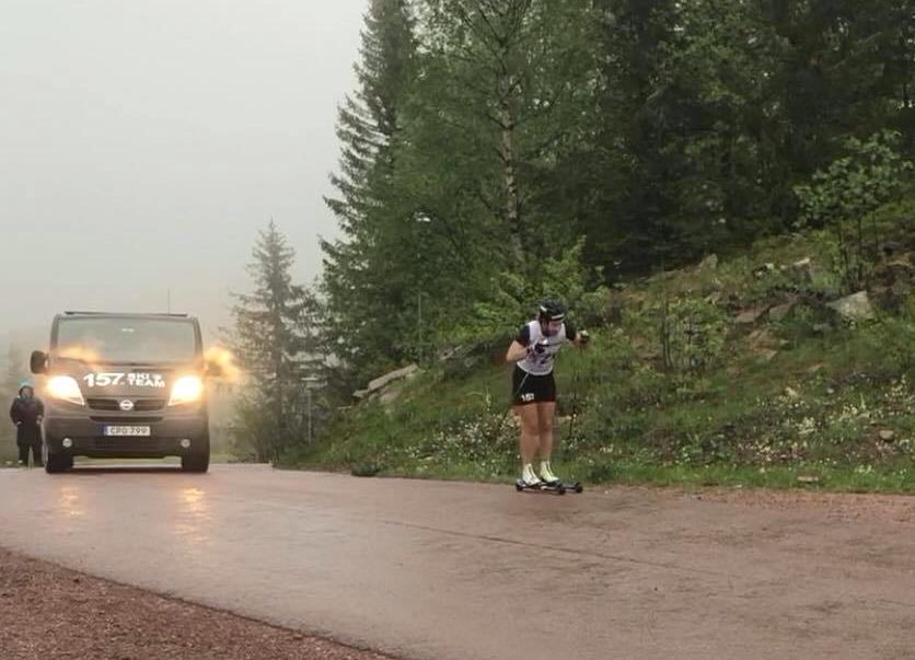 Britta Johansson Norgren på väg mot mål. FOTO: Marcus Laggar.