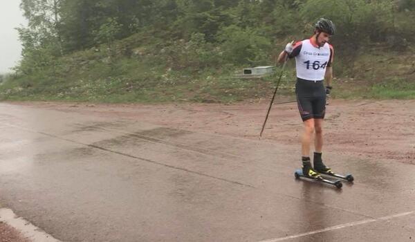 Oskar Kardin vann Grönklitt Hill Race sex sekunder före Calle Halfvarsson. FOTO: Marcus Laggar.