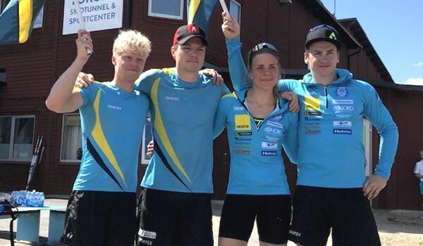 Filip Danielsson, Gabriel Thorn, Lovisa Modig och Anton Persson tvingas lämna SK Bore. FOTO: SK Bore.