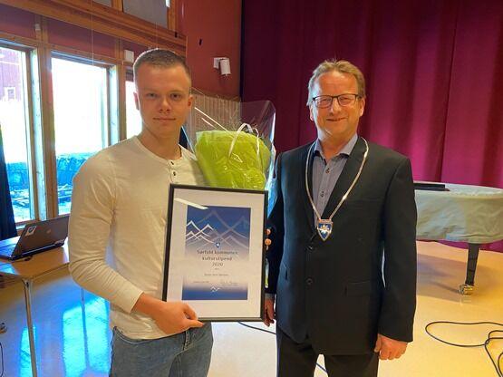Sander Myhr Bjørknes og ordfører