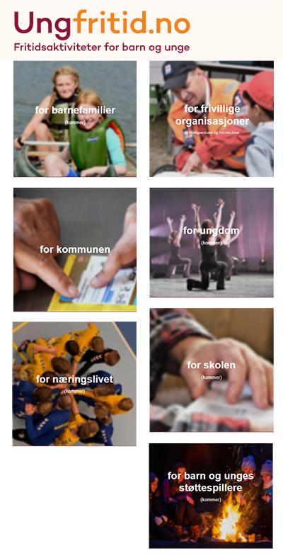Diverse bilder fra nettsiden ungfritid.no