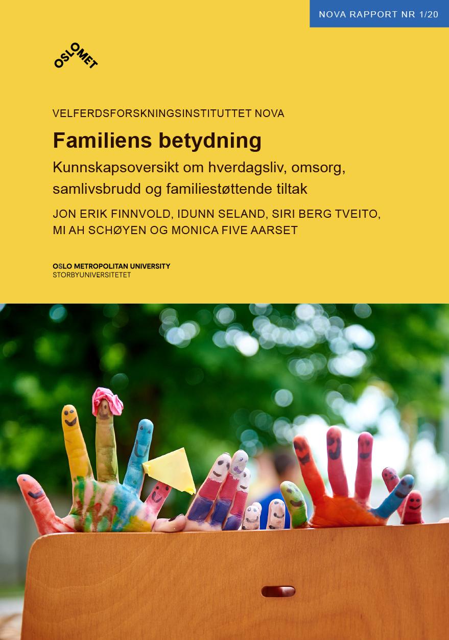 Omslagsbilde til NOVA-Rapport 1-2020 Familiens betydning