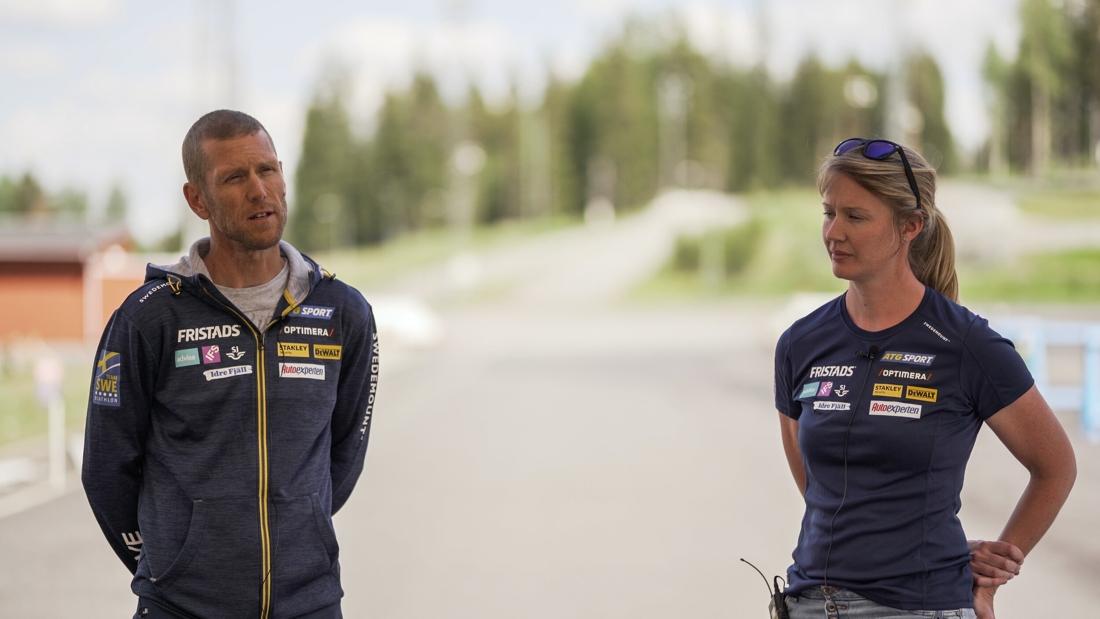Anna-Maria Uusitalo gläds åt att ha gjort klart med Ola Rawald som tekniktränare. FOTO: Svenska skidskytteförbundet.