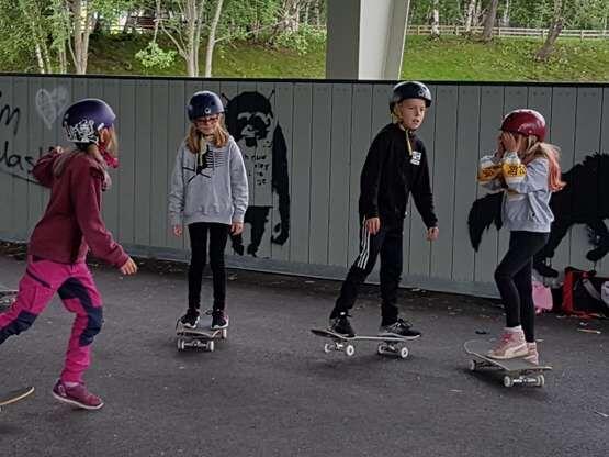 Skateboard, friluftsskolen