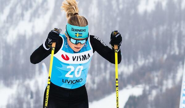 Julia Angelsiöö är klar för norska långloppslaget Team Parkettpartner Sjusøen och blir teamkompis med bland andra Sofie Elebro. FOTO: Visma Ski Classics/Magnus Östh.