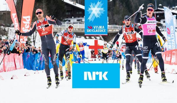 NRK fortsätter att sända Visma Ski Classics i Norge. FOTO: Visma Ski Classcis/Magnus Östh.