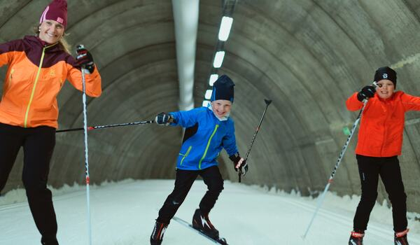 Det bjud på toppenförhållanden i Torsby skidtunnel nu. FOTO: Torsby Skidtunnel & Sportcenter.
