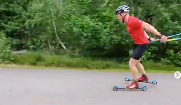 Alfred Buskqvist vann SM på rullskidor i Lidköping. FOTO: Instagram Alfred Buskqvist.