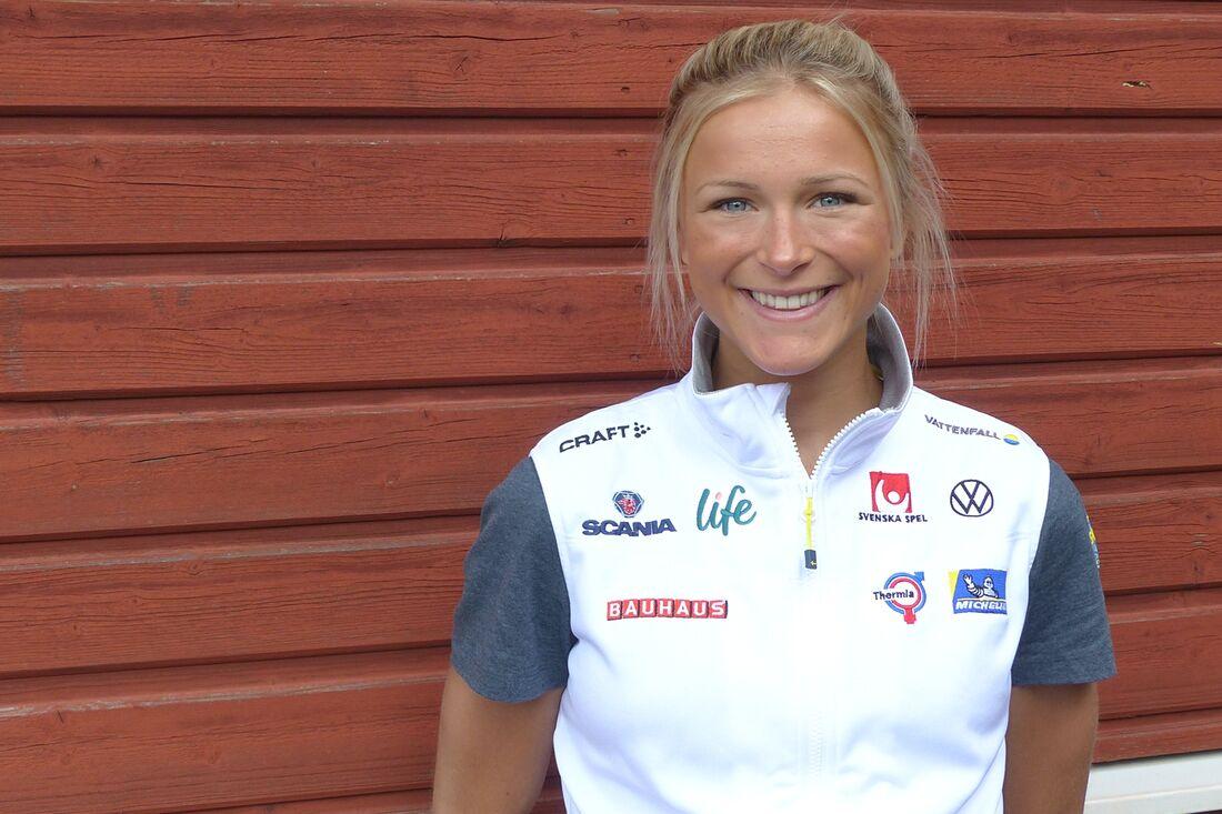 Frida Karlsson åker tävlar på rullskidor i Norge om en och en halv vecka. FOTO: Johan Trygg/Längd.se.