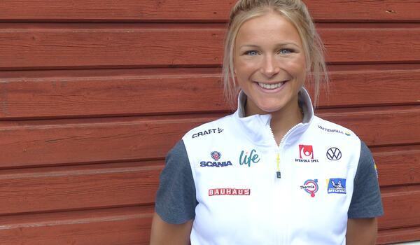 Frida Karlsson har en bra träningssommar bakom sig och ser fram emot VM-vintern. FOTO: Johan Trygg/Längd.se.
