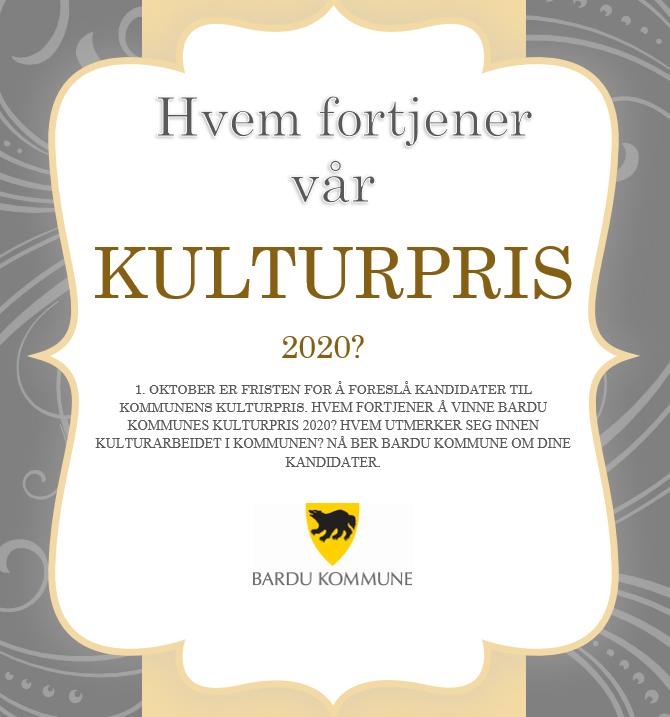 Kulturpris 2020