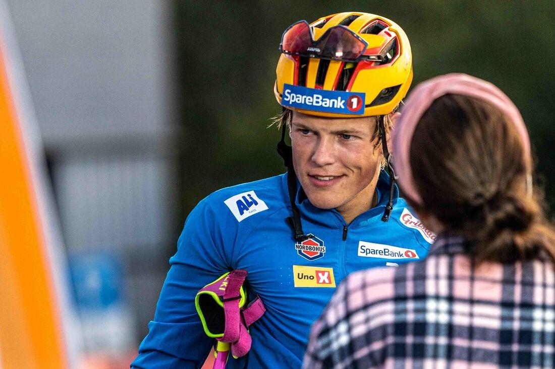Johannes Hösflot Kläbo vann sprinten på Toppidrettsveka under fredagskvällen. FOTO: Toppidrettsveka.