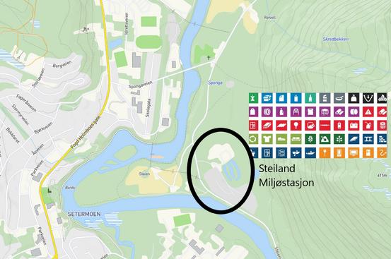 Steiland Miljøstasjon kart