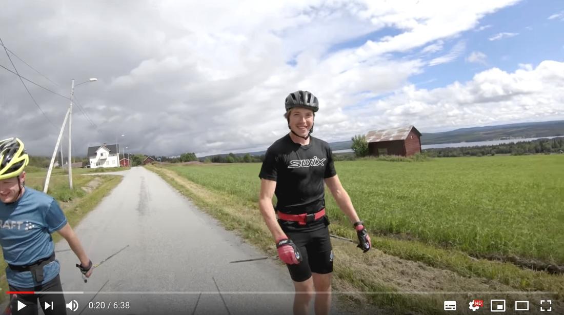 Vill man se William i träning kan man kolla in Jens Burmans vlog där han dyker upp då och då. FOTO: Jens Burmans Youtube-kanal.