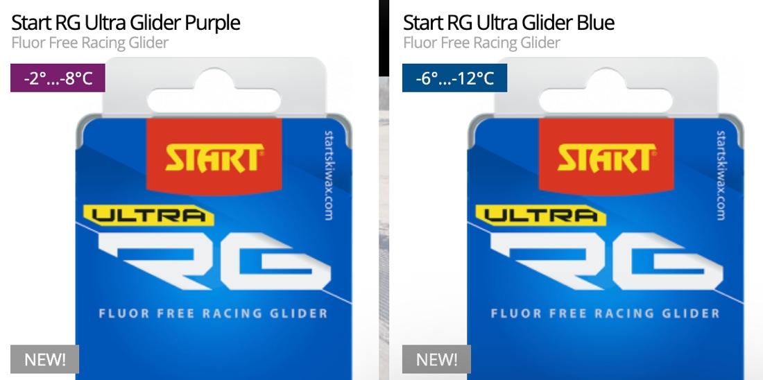 Violett och blå från Starts nya Ultra Glider-serie.