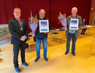 F.v. ordfører Gisle Hansen, Ingvar Sørfjord og Rune Åsbakk. Foto: Saltenposten/Eva S Winther.