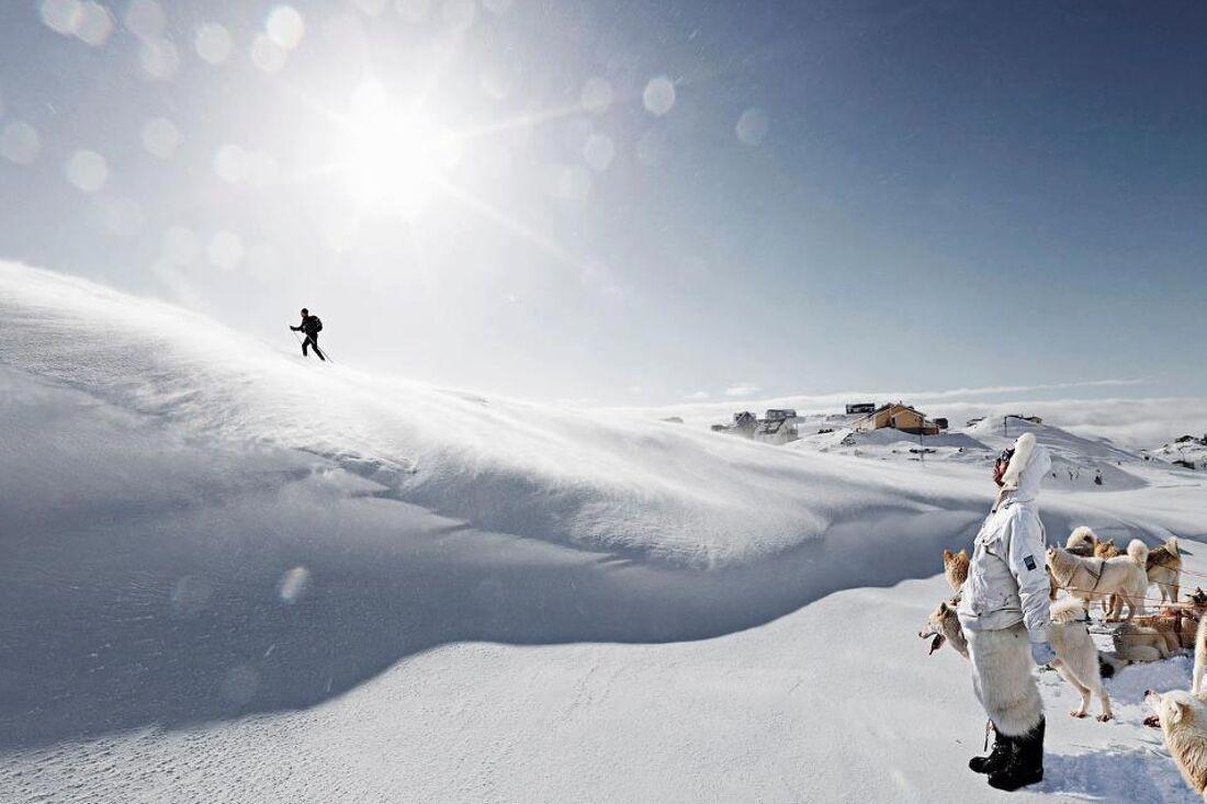 Ett av världens mest utmanande skidlopp, Arctic Circle Race på Grönland, blir nu det hittills längsta loppet bland Visma Ski Classics Challengers. FOTO: David Trood.