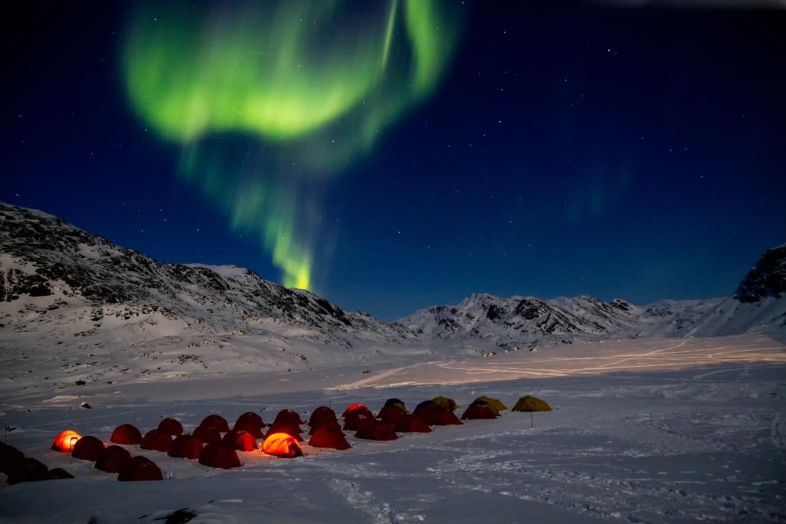 Norrsken över den grönländska himlen. FOTO: Jesper Hansen.