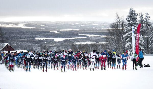 I vinter är Åsarna Ski Marathon ett Visma Ski Classics Challengers event. FOTO: Åsarna IK.