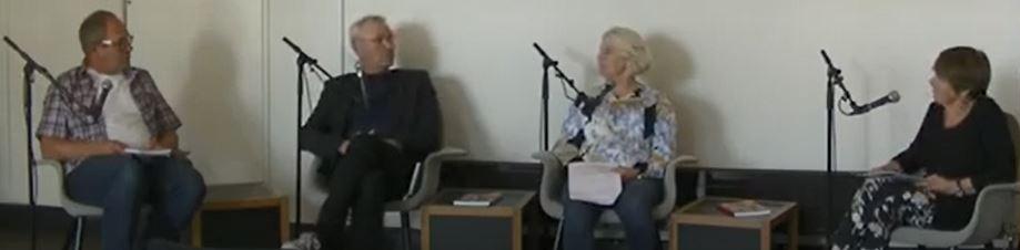 Bilde av et panel av fagfolk som samtaler om boken Frivillighet