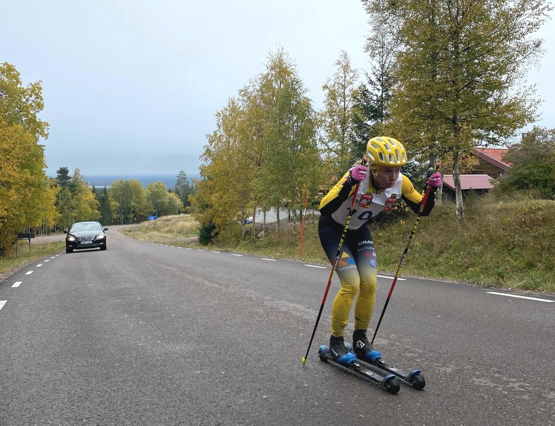 Lina Korsgren på väg mot klar seger. FOTO: Markus Laggar.