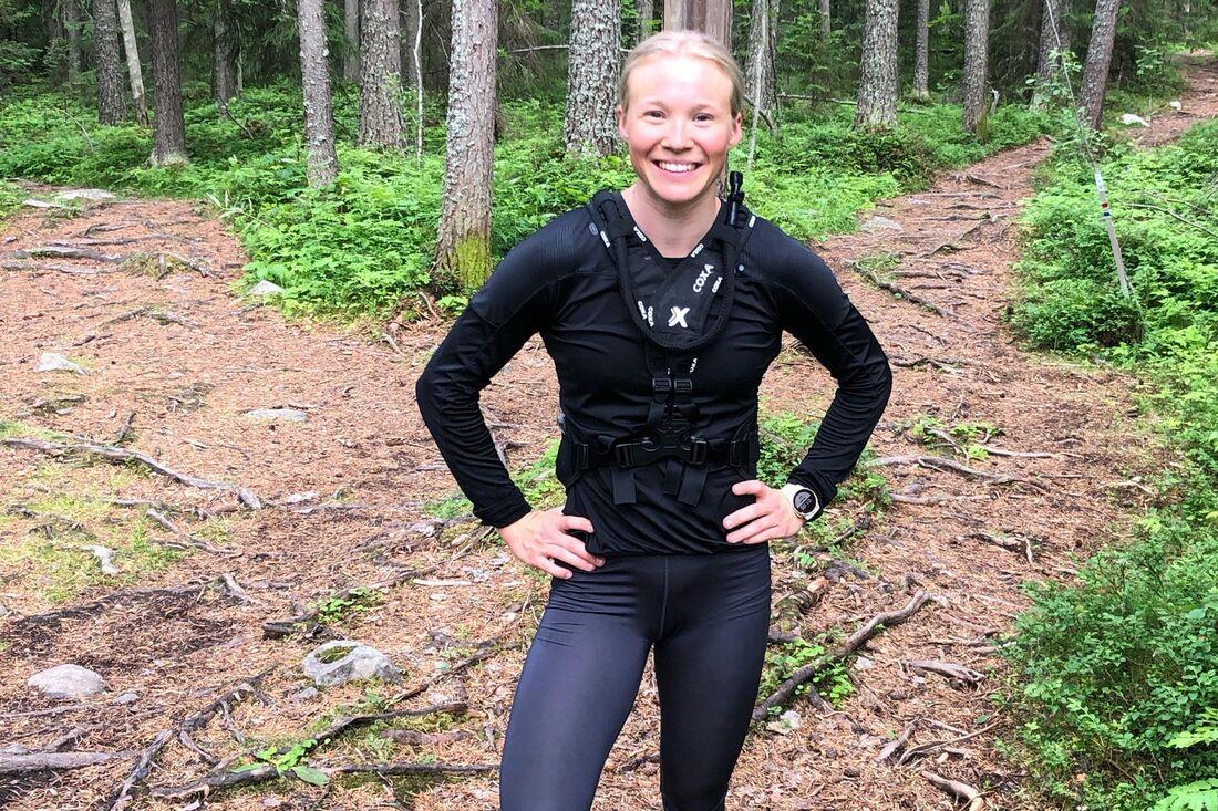 Jonna Sundling har en bra träningssommar bakom sig och ser fram emot VM-vintern. FOTO: Privat.