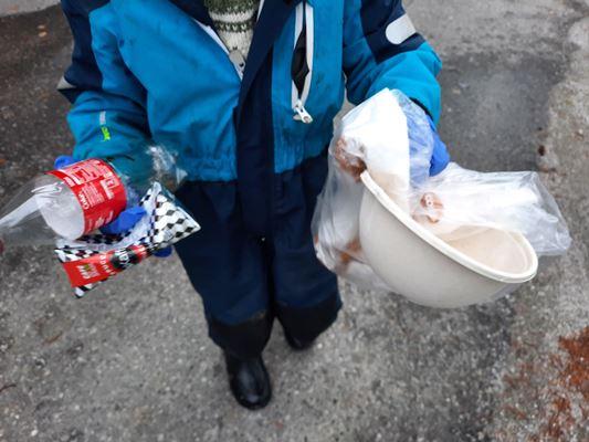 Straumen barnehage fant mye søppel