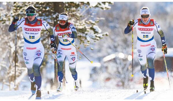 Bauhaus blir ny sponsor till den nationella juniorcupen. FOTO: Svenska skidförbundet.