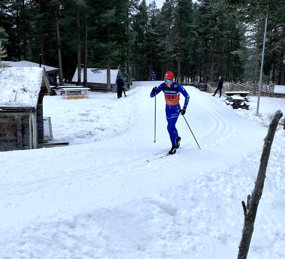 Erik Larsson visade bra höstform när han tog hem herrjuniorklassen. FOTO: Johan Rydén.