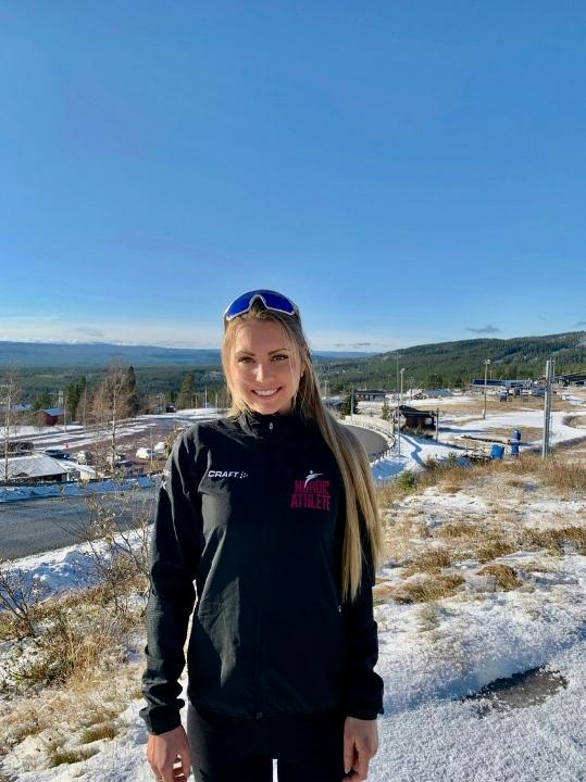 Just nu är Hedda Bångman på Idre Fjäll och förbereder sig för sin första säsong som långloppsåkare. FOTO: Espen Traeldal.